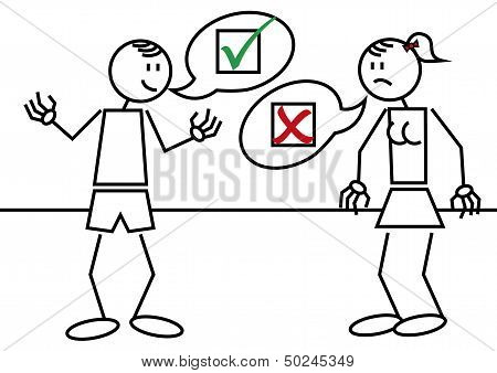 Stick Figures Accepted Rejected