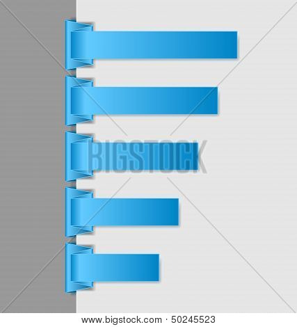 Blue Folded Paper Navigation Menu Backgrounds
