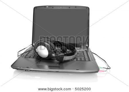 Laptop With Stereo Headset