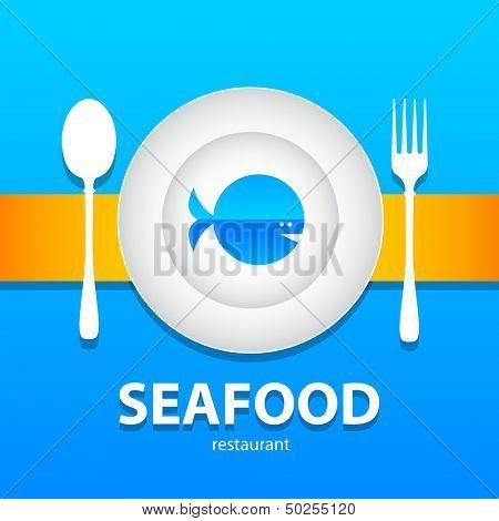 template design - seafood menu