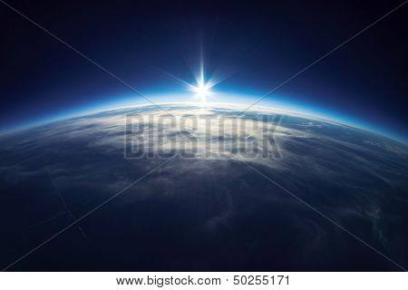Near Space photography - 20km above ground / real photo poster