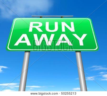 Run Away Concept.