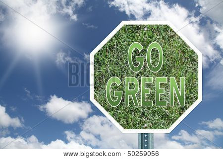 Go Green Stop Sign