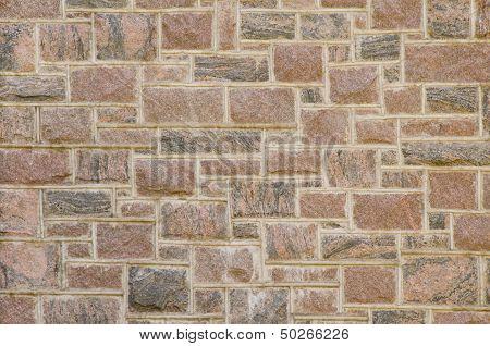 Reddish Masonry Block Wall