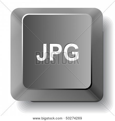 Jpg. Vector computer key.