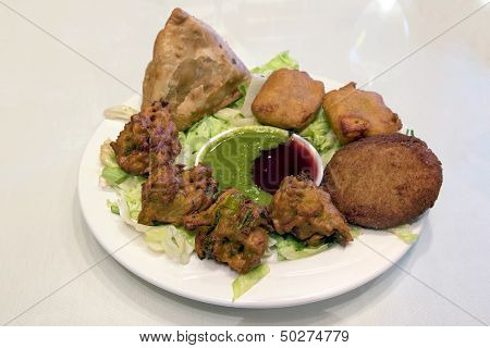 East Indian Food Appetizer Dish