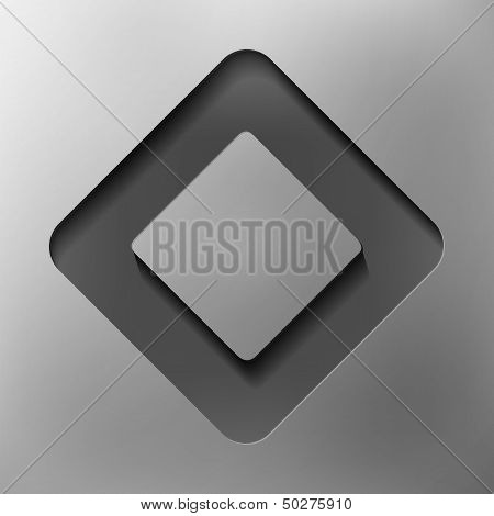 quadrangle, abstract icon, vector style