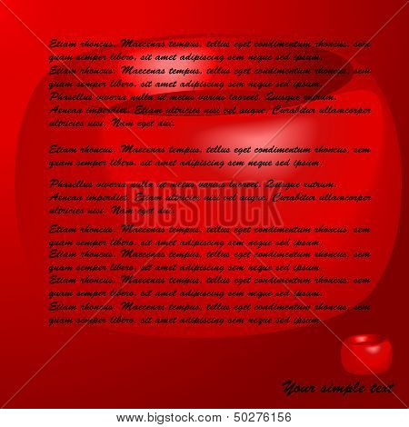 Blood in the form of an icon, abstract background