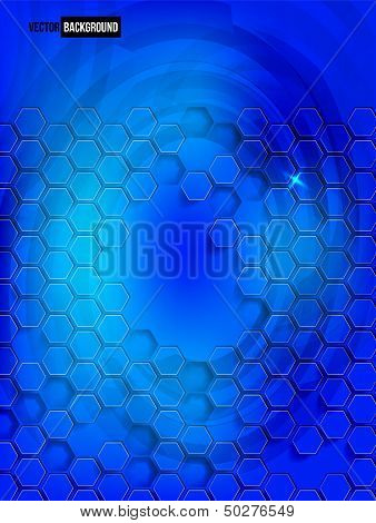 Vector abstract background Hexagon. Web