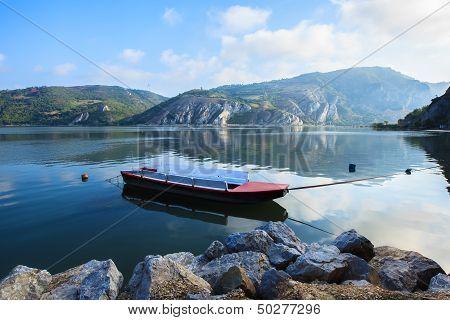 River Danube entry in National Park Djerdap in Serbia.