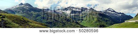 Panorama at Lukmanierpass in Switzerland