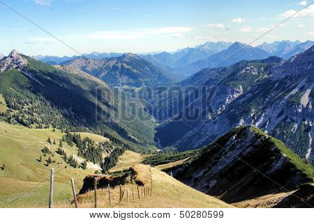 Mountains and valleys in Tyrol, Austria