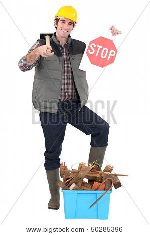 Tradesman against needless waste