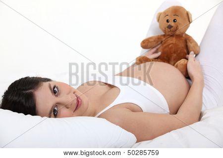 Pregnant woman resting