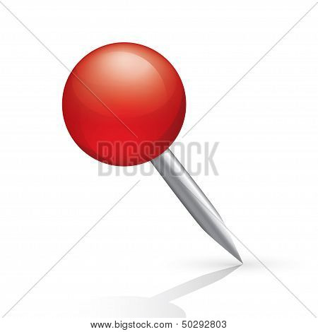 Pushpin icon isolated on white background