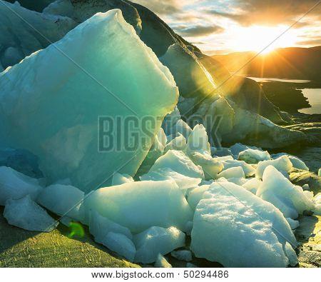 Svartisen-Gletscher in Norwegen