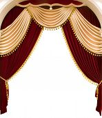 stock photo of curtains stage  - red theater curtain - JPG