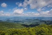 stock photo of appalachian  - View of Appalachian mountains in north Georgia - JPG