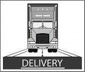 picture of fedex  - big heavy truck on road  - JPG