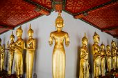 Standing Thai Golden Buddha From Wat Pho