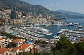 stock photo of hercules  - Panoramic View of Port Hercule and Monte Carlo - JPG