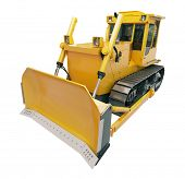 stock photo of earthwork operations  - Heavy crawler bulldozer isolated on a white background - JPG