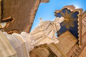 image of carmelite  - Shining statue of the Virgin Mary in Mdina - JPG