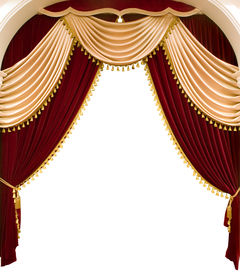 picture of curtains stage  - red theater curtain - JPG