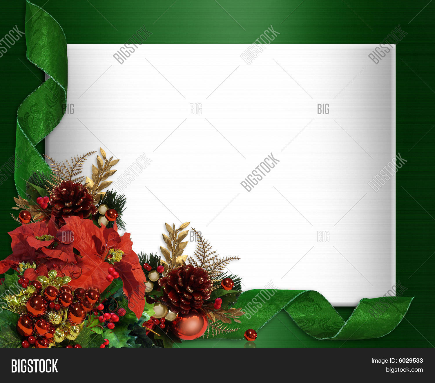 Christmas Border Elegant Corner Image & Photo | Bigstock