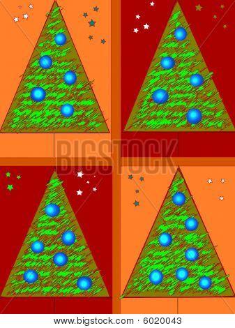 four fir-trees