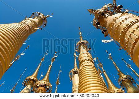Ruins Of Ancient Burmese Buddhist Pagodas