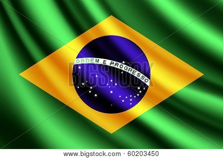 Waving flag of Brazil