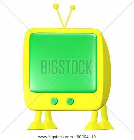 Walking Yellow Cartoon Tv