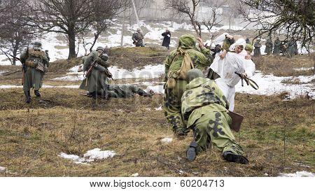 Russian Spies Battle With German Soldiers