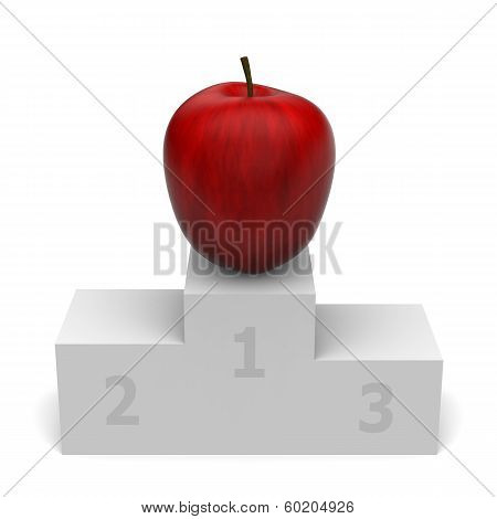 Apple on podium