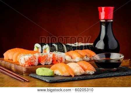 Still Life With Mixed Sushi Plate
