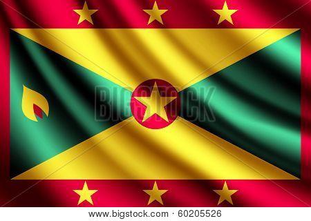 Waving flag of Grenada