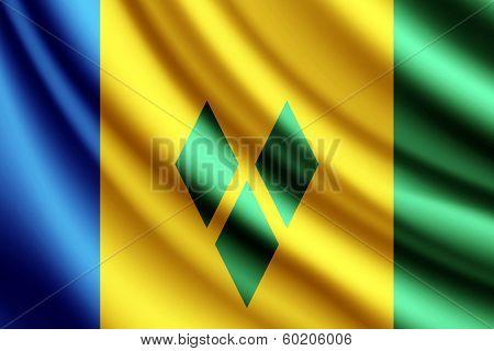 Waving flag of Saint Vincent