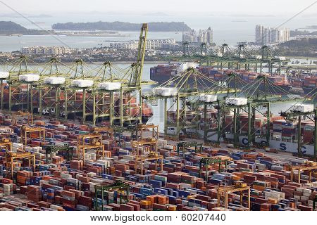 Port Of Singapore Container Shipyard