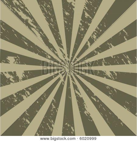 Grunge Military Sunburst