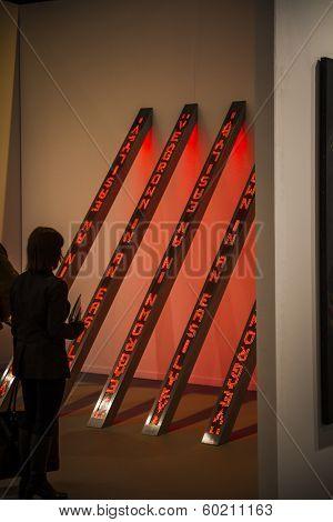 MADRID, SPAIN - 19 FEBRUARY 2014. ARCOmadrid contemporary art fair  begins its 33rd edition. Madrid, Spain