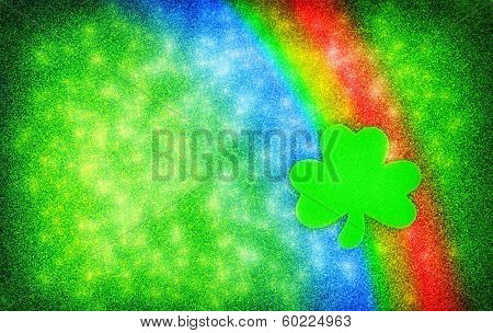 Shamrock Rainbow Sparkle Background
