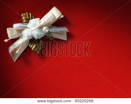 Holidays card with flowers as a symbol of love