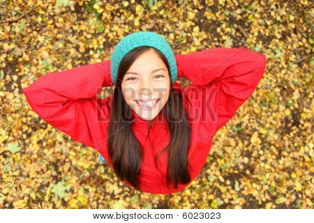 Happy Autumn Girl
