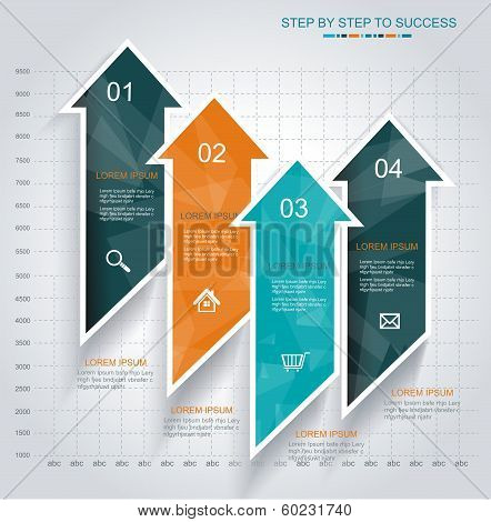 Modern Design Template Infographic From Arrows.