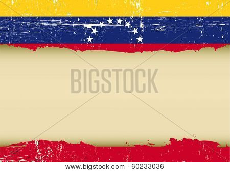 A Venezuelan flag with a large frame for your message