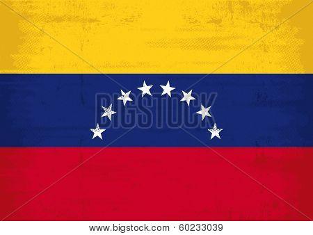 A grunge Venezuelan flag for you