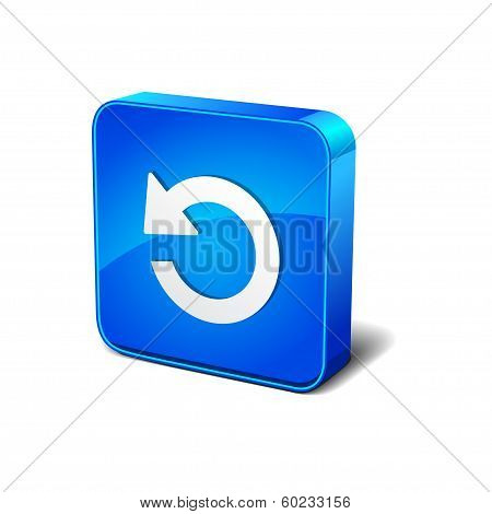 Reset Replay Rounded Square Blue Vector Button Icon