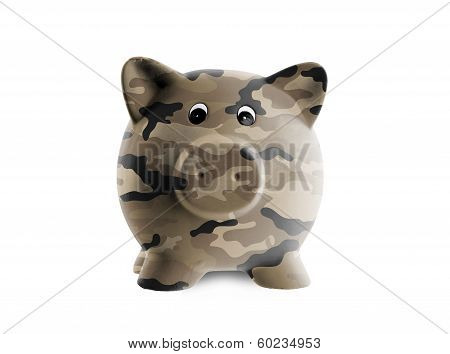 Ceramic Piggy Bank With Painting
