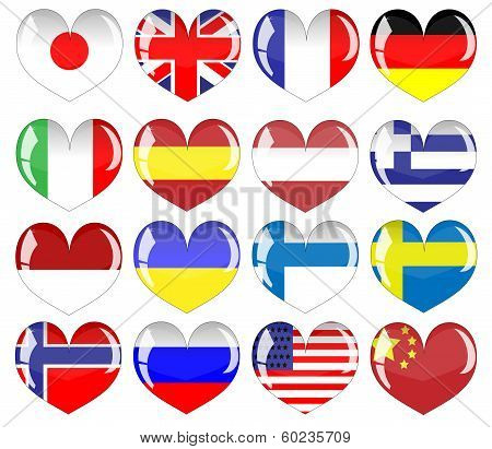 flags of countries.